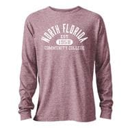 NFCC Twisted Tri-Blend Long Sleeve T-Shirt - Collegiate Maroon