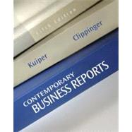 Contemporary Business Reports,9781111820855