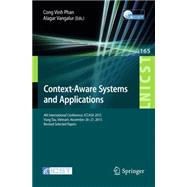 Context-aware Systems and Applications