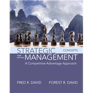 Strategic Management A Competitive Advantage Approach, Concepts