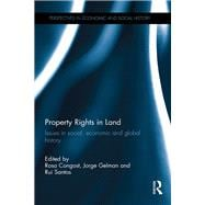 Property Rights in Land: Issues in Social, Economic and Global History by Congost; Rosa, 9781848935808