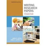 Writing Research Papers : A Complete Guide (spiral) with NEW MyCompLab Student Access Code Card,9780321846129