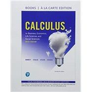Calculus for Business, Economics, Life Sciences and Social Sciences, Brief Version Books a la Carte Edition