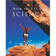 How to Study Science,9780072346930