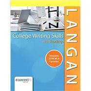 College Writing Skills with Readings MLA 2016 Update by Langan, John, 9781259988547