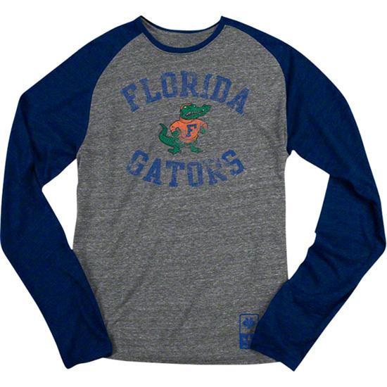 Florida Gators Navy adidas Originals Gym Class Tri-Blend Long Sleeve Tee