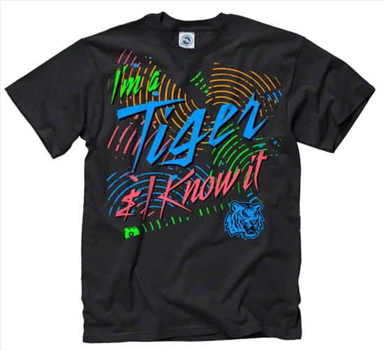 LSU Tigers Black Bel-Air Neon Ring Spun T-Shirt