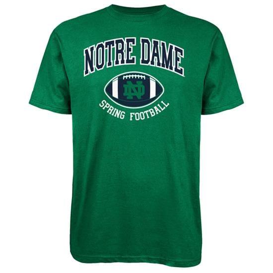Notre Dame Fighting Irish adidas Spring Football Hitch & Go T-Shirt - Kelly Green