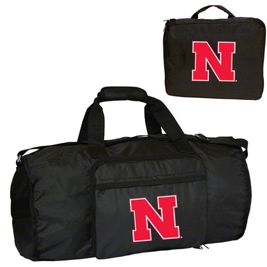 Nebraska Cornhuskers Fold-Away Duffle Bag