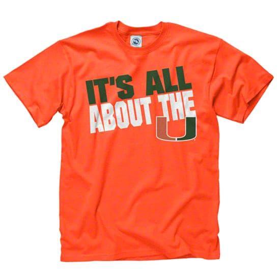 Miami Hurricanes Orange Youth Slogan T-Shirt