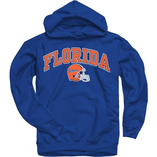 Florida Gators Youth Royal Football Helmet Hooded Sweatshirt