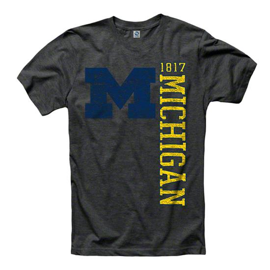 Michigan Wolverines Black Visionary Ring Spun T-Shirt