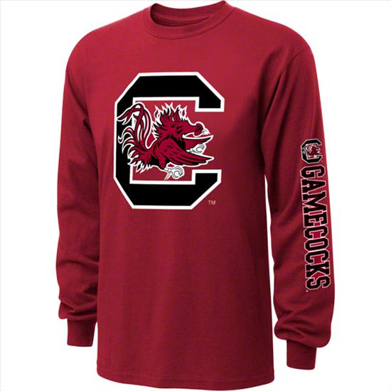 South Carolina Gamecocks  Cardinal Youth Double Hit II Long Sleeve T-Shirt