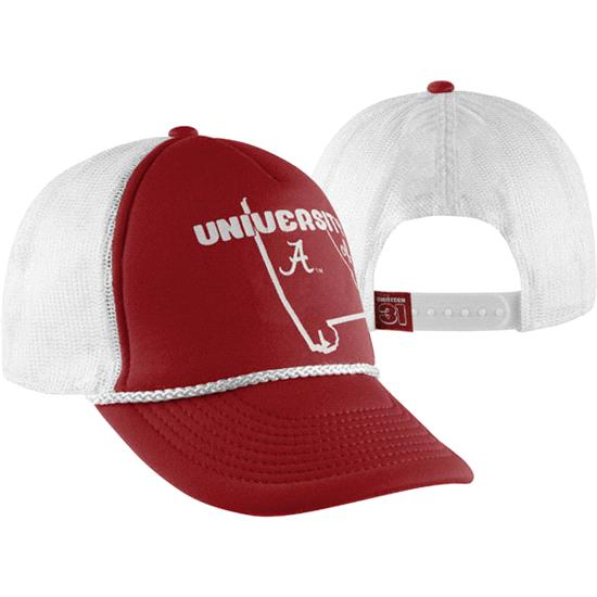 Alabama Crimson Tide Crimson Jim Bob Foam Front Snapback Hat