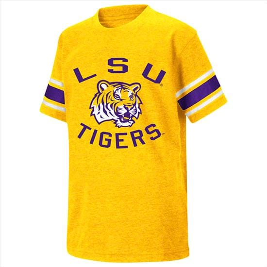 LSU Tigers Gold Youth Football T-Shirt