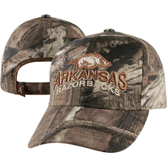 Arkansas Razorbacks Camouflage The Hunter Cotton Mossy Snapback Hat