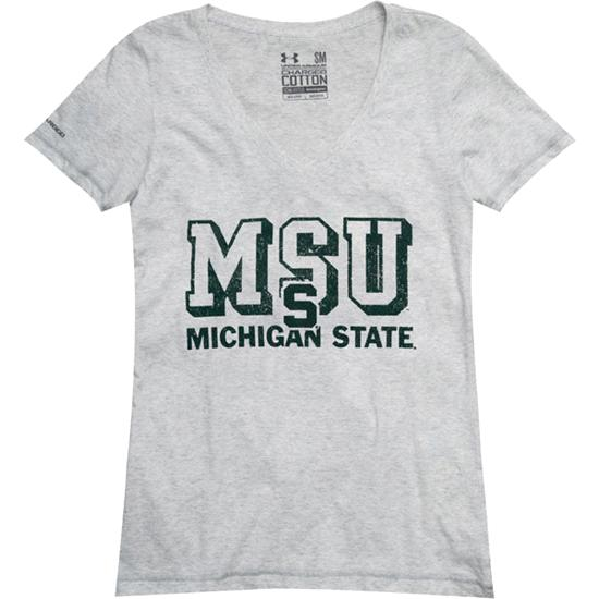 Michigan State Spartans Women's Charged Cotton V-Neck T-Shirt