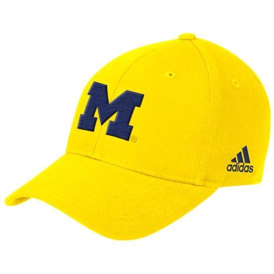 Michigan Wolverines Gold adidas Basic Logo Structured Adjustable Hat