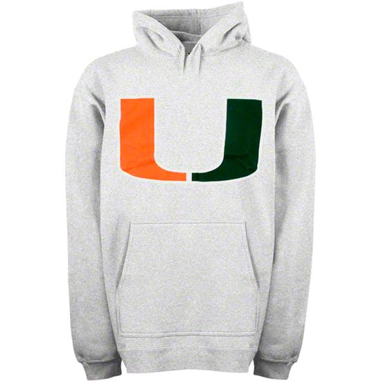 Miami Hurricanes Toddler Grey The U Hooded Sweatshirt