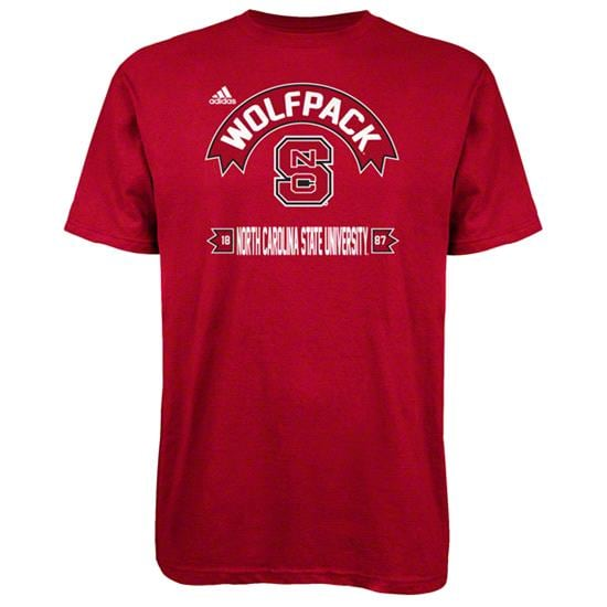 North Carolina State Wolfpack Red adidas Athletic Front T-Shirt