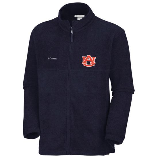 Auburn Tigers Navy Columbia Flanker Full-Zip Fleece Jacket