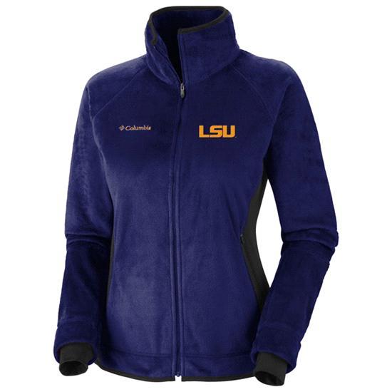 LSU Tigers Women's Purple Columbia Pearl Plush II Fleece Jacket