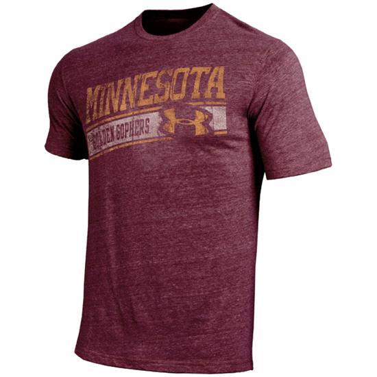 Minnesota Golden Gophers Under Armour Diagonal Graphic Tri-Blend T-Shirt