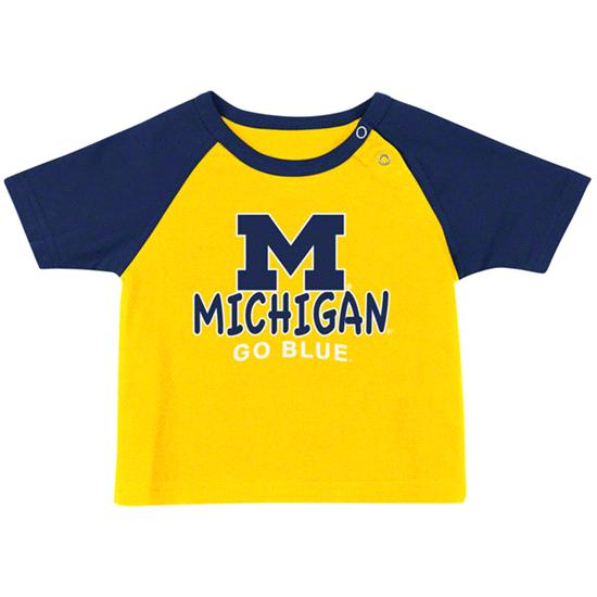 Michigan Wolverines Infant Yellow Titan T-Shirt