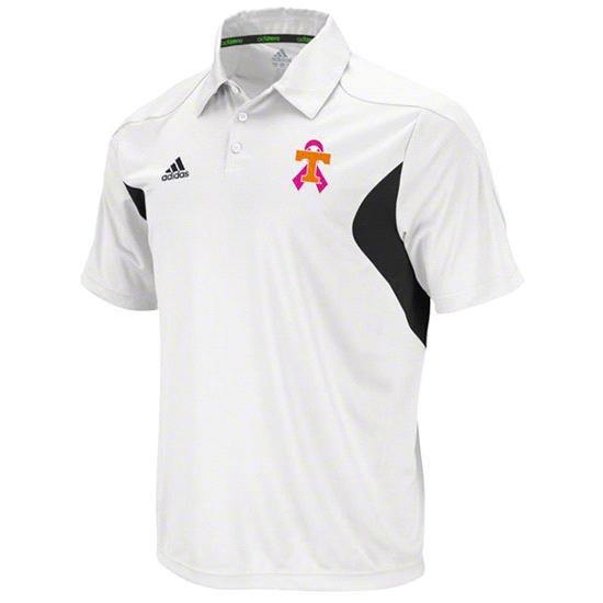 Tennessee Volunteers adidas Black/White Breast Cancer Awareness Coordinator 2011 Polo
