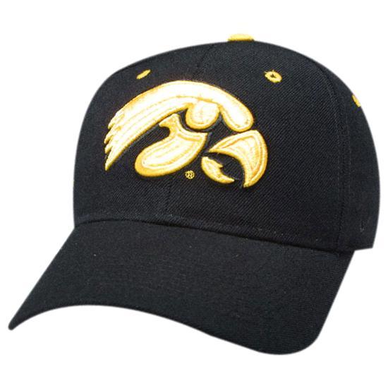 Iowa Hawkeyes ''Hawkeye'' Black DHS Hat