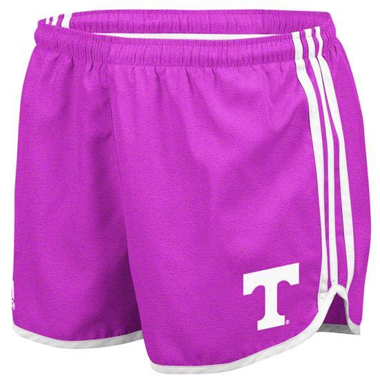 Tennessee Volunteers adidas Heathered Pink Women's 3-Stripe Princess Shorts
