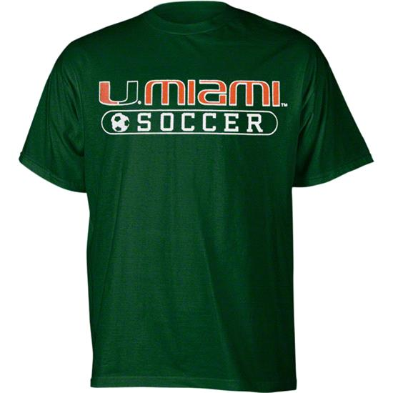 Miami Hurricanes Youth Green Soccer T-Shirt