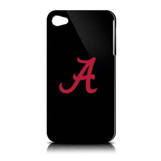 Alabama Crimson Tide iPhone 4 Case: Black Shell