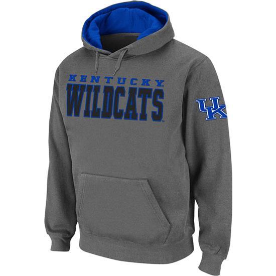 Kentucky Wildcats Charcoal Twill Victory Lap Hooded Sweatshirt
