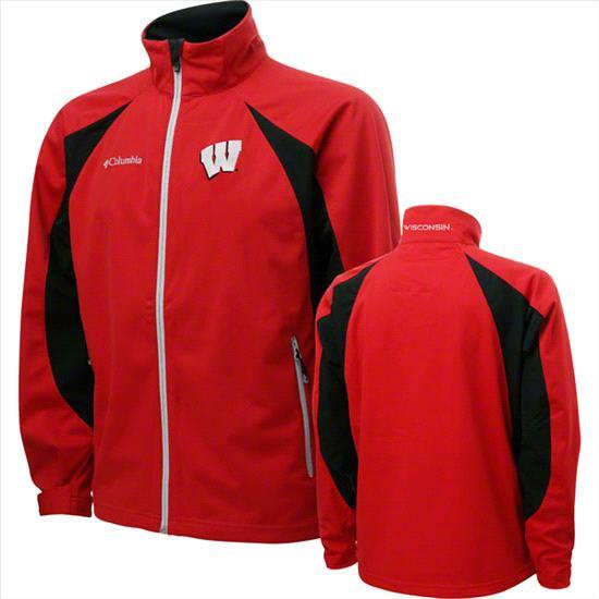 Wisconsin Badgers Red Columbia Swingman Softshell Jacket